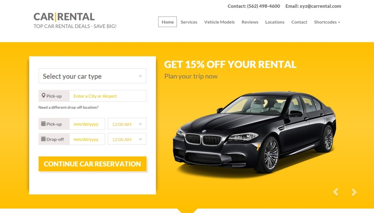 Wordpress themes for car dealership, car repair, auto-salon and car rental services 2015